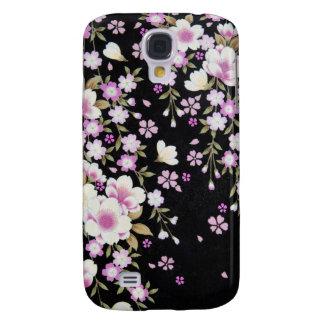 Coque Galaxy S4 Falln cascadant les fleurs roses