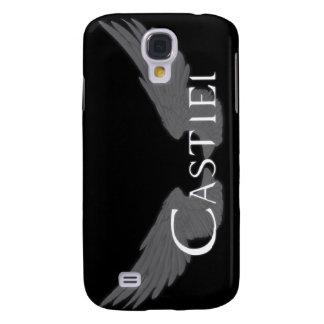 Coque Galaxy S4 Falln Castiel avec des ailes blanches
