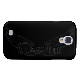 Coque Galaxy S4 Falln Castiel avec le noir d'ailes