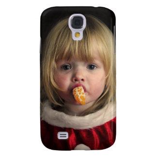 Coque Galaxy S4 Fille de Noël - enfant de Noël - fille mignonne