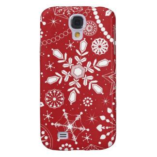 Coque Galaxy S4 Flocons de neige dans le bas