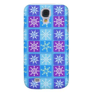Coque Galaxy S4 Genre de flocon de neige d'hiver de jour