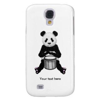 Coque Galaxy S4 Illustration de tambour d'ours panda