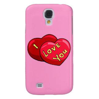 Coque Galaxy S4 Je t'aime coeurs