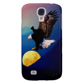Coque Galaxy S4 L'aigle chauve chasse la pleine lune