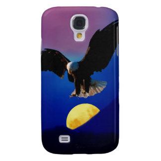 Coque Galaxy S4 L'aigle chauve descend sur la lune