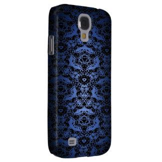 Coque Galaxy S4 Le bleu élégant à noircir se fanent caisse de