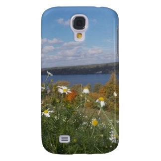 Coque Galaxy S4 Marguerites blanches