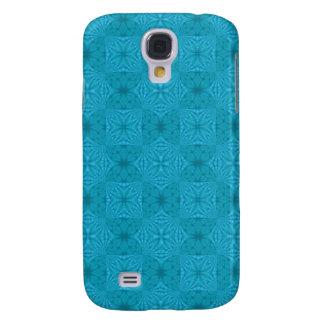 Coque Galaxy S4 Motif en bois abstrait de bleu