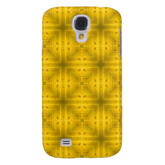 Coque Galaxy S4 Motif en bois jaune