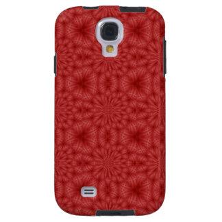 Coque Galaxy S4 Motif en bois rouge abstrait