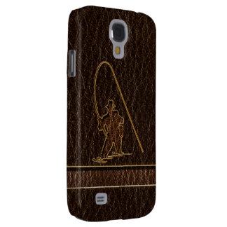 Coque Galaxy S4 Obscurité simili cuir de pêcheur