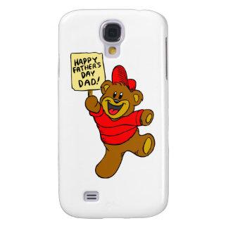 Coque Galaxy S4 Ours heureux de garçon de papa de la fête des