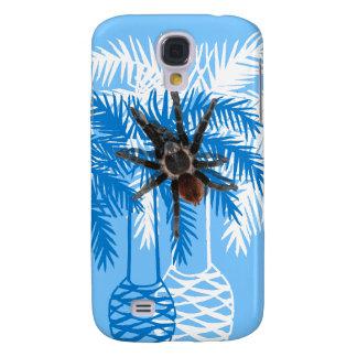 Coque Galaxy S4 palmiers bleus avec la tarentule