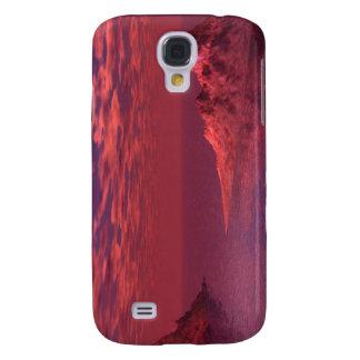 Coque Galaxy S4 Paysage d'imaginaire - montagnes à l'aube