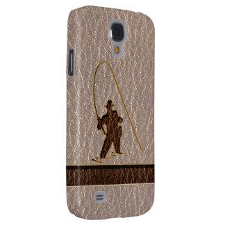 Coque Galaxy S4 Pêcheur simili cuir mou