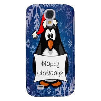 Coque Galaxy S4 Pingouin de Noël