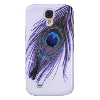 Coque Galaxy S4 Plume pourpre 2 de paon