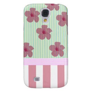 Coque Galaxy S4 Rayures florales élégantes gaies adorables