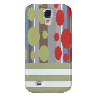 Coque Galaxy S4 Rétro pois abstrait élégant adorable de rayure