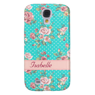 Coque Galaxy S4 Rétros roses vintages adorables gais