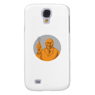 Coque Galaxy S4 Scientifique fou tenant le dessin de cercle de