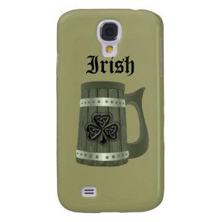 Coque Galaxy S4 Shamrock chanceux irlandais de tasse de bière de