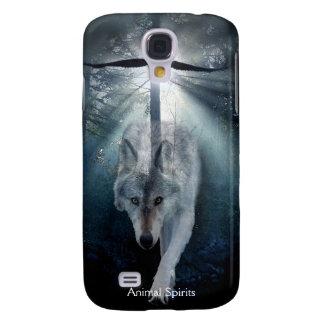 Coque Galaxy S4 Spiritueux de loup gris et de faune d'Eagle