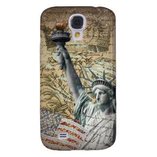 Coque Galaxy S4 Statue de New York de manuscrits de la liberté