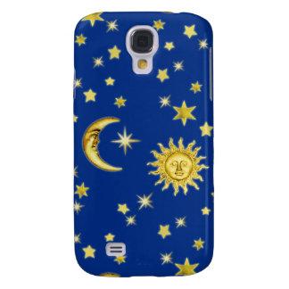 Coque Galaxy S4 Sun, lune et étoiles