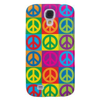 Coque Galaxy S4 Symboles de paix d'art de bruit