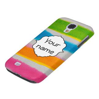 Coque Galaxy S4 Texture de rayures d'aquarelles