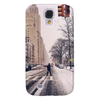 Coque Galaxy S4 Un homme croisant un Central Park de Milou à