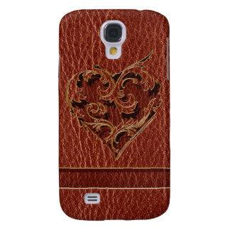 Coque Galaxy S4 Valentine simili cuir