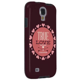 Coque Galaxy S4 Véritable cadeau personnalisé de Valentine d'amour