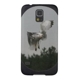 Coque Galaxy S5 Ajoutez la grande vue ovale de photo (le noir)