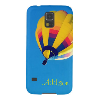 Coque Galaxy S5 Ballon à air chaud jaune