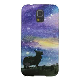 Coque Galaxy S5 Cas de téléphone de ciel nocturne de corgi