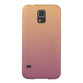 Coque Galaxy S5 Gradient d'Ombre de pêche et de prune
