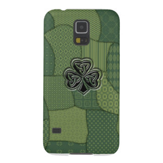 Coque Galaxy S5 Patchwork irlandais chanceux adorable de shamrock