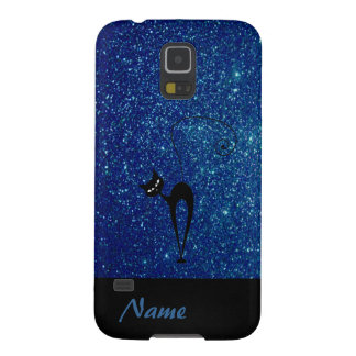 Coque Galaxy S5 Scintillant drôle adorable gai de chat