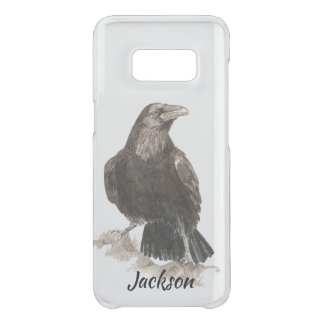 Coque Get Uncommon Samsung Galaxy S8 Art de nature d'oiseau de Raven d'aquarelle
