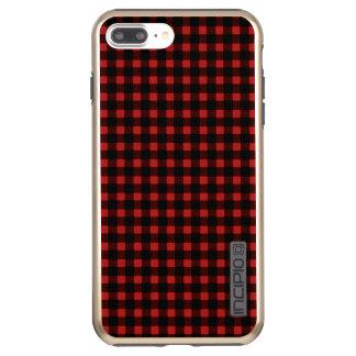 Coque Incipio DualPro Shine iPhone 8 Plus/7 Plus Plaid noir rouge de Buffalo d'hiver d'impression