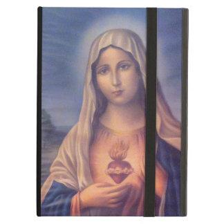 Coque iPad Air Beau coeur sacré religieux de Vierge Marie