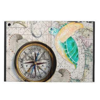 Coque iPad Air Beige de carte de tortue de mer