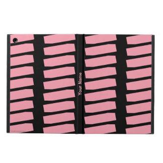 Coque iPad Air caisse d'air d'iPad, motif d'abrégé sur rose sur