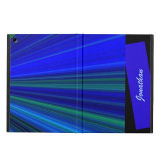 Coque iPad Air caisse d'air d'iPad, Starburst, bleu