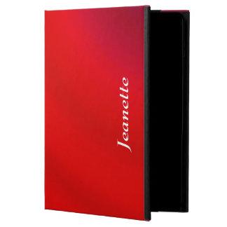 Coque iPad Air caisse de folio d'iPad, gradient rouge lumineux