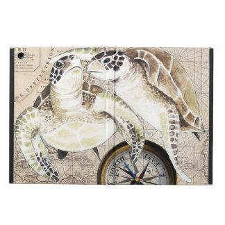 Coque iPad Air Carte de boussole de tortues de mer