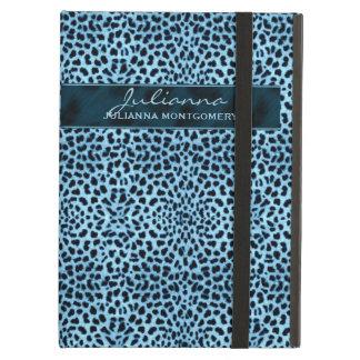 Coque iPad Air Copie de guépard dans de grandes tonalités bleues